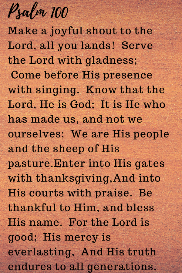 complete psalm 100